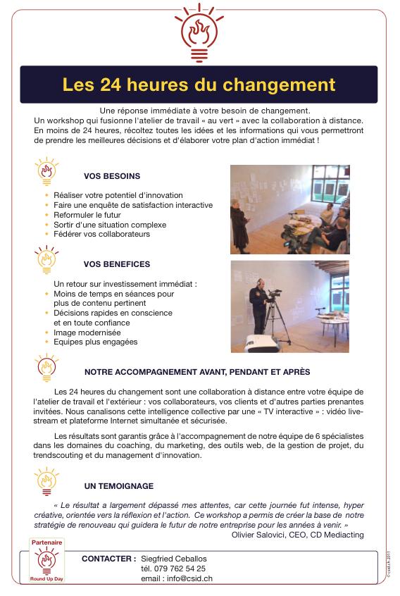 CSID 24heures du changement RoundUp Day 2014 Flyer F